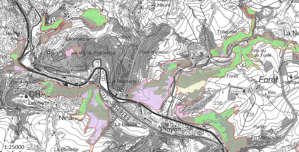 "4 zones ""Natura 2000"" , année 2015"