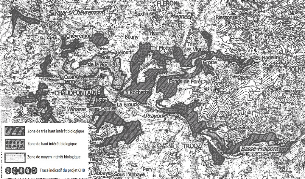 """Zones proposées par les scientifiques pour d'inscription à """"Natura 2000""""."""